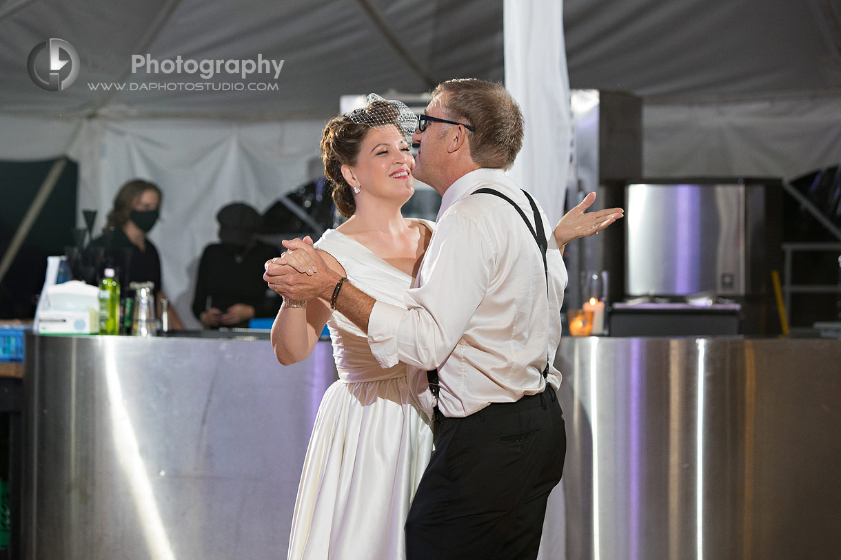 First Dance at Outdoor Wedding in Ayr