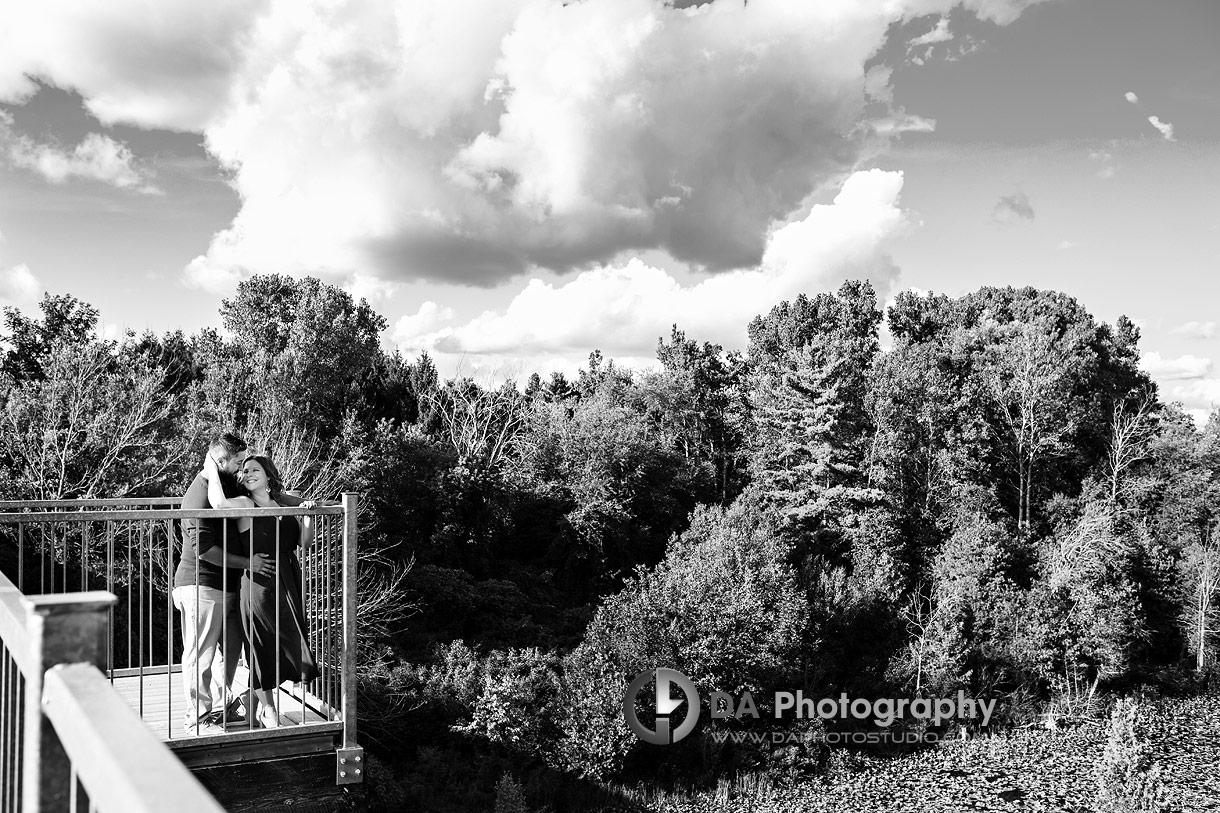 Engagement at Waterfront Black Bridge in Simcoe