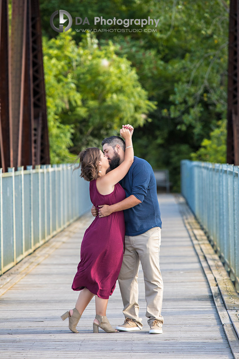 Intimate engagement photos at the bride in Simcoe