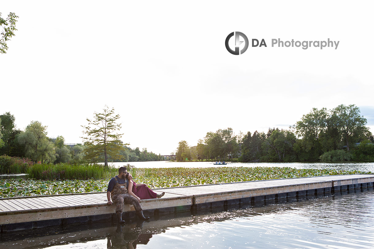 Intimate engagement photography in Simcoe