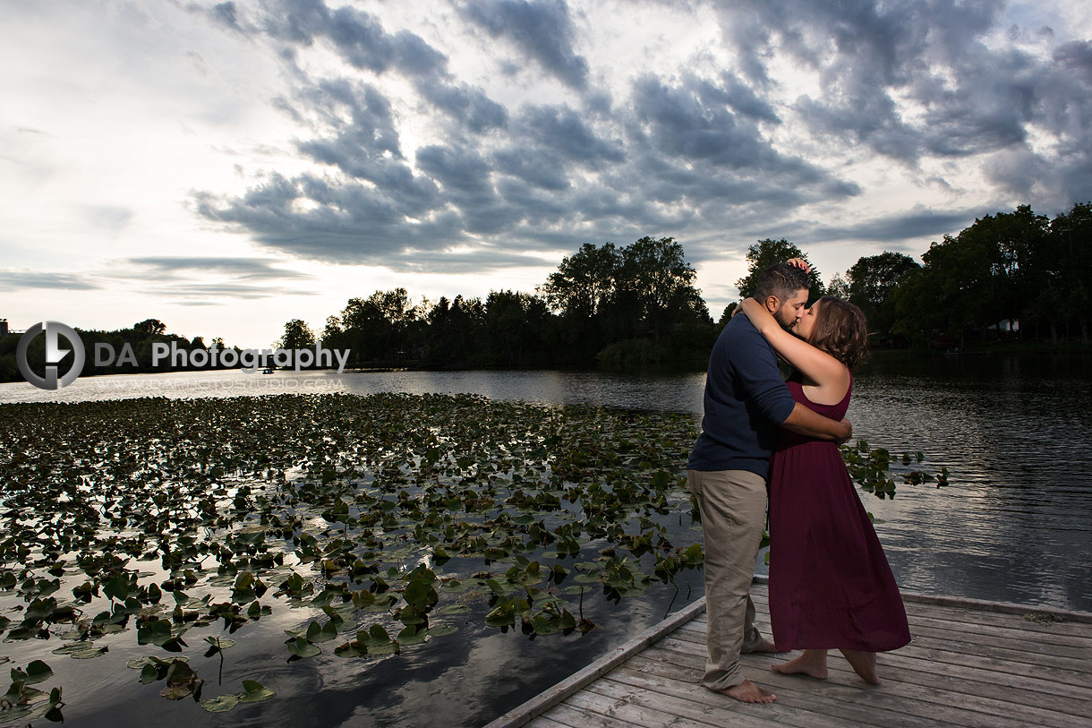 Intimate engagement photography in Wilsonville
