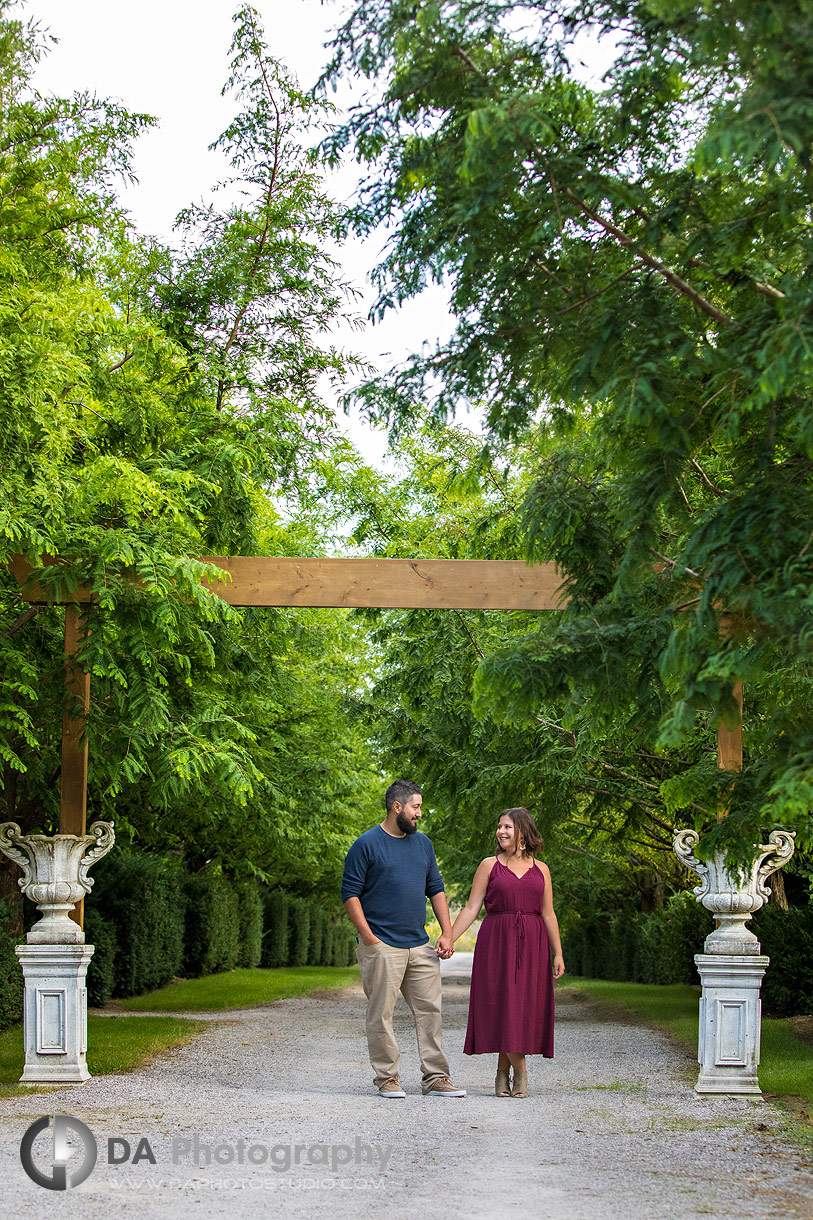Whistling Gardens engagement photography