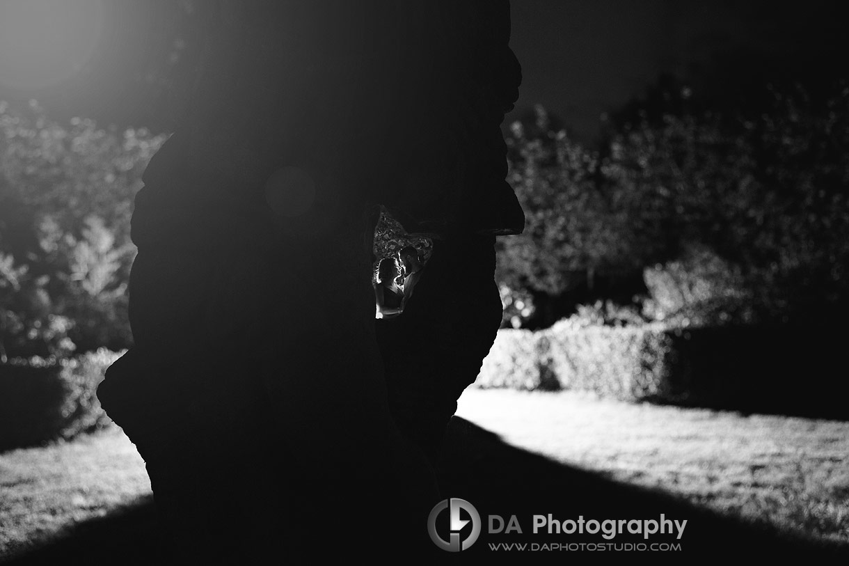Whistling Gardens engagement photos at night
