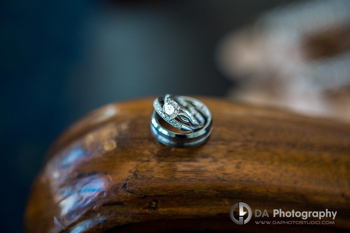 Wedding rings at Royal Canadian Yacht Club