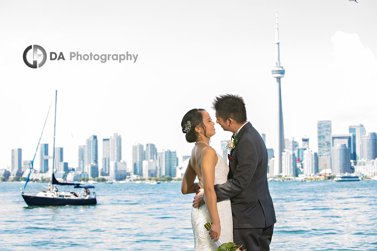 Intimate wedding at Royal Canadian Yacht Club in Toronto