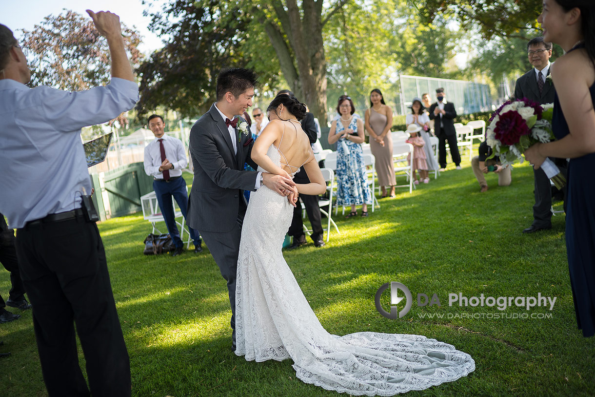 Wedding Ceremony at Royal Canadian Yacht Club in Toronto