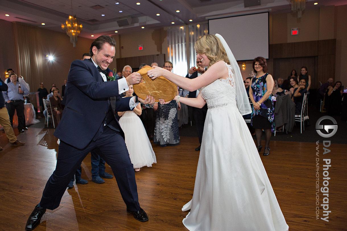 Traditional Greek wedding reception at Millennium Gardens Banquet Centre