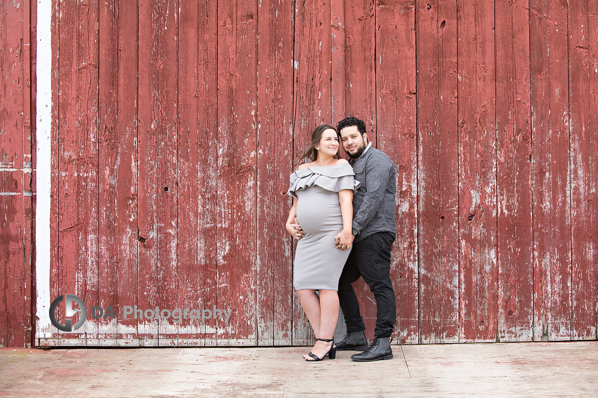 Vintage engagement photos at Country Heritage Park