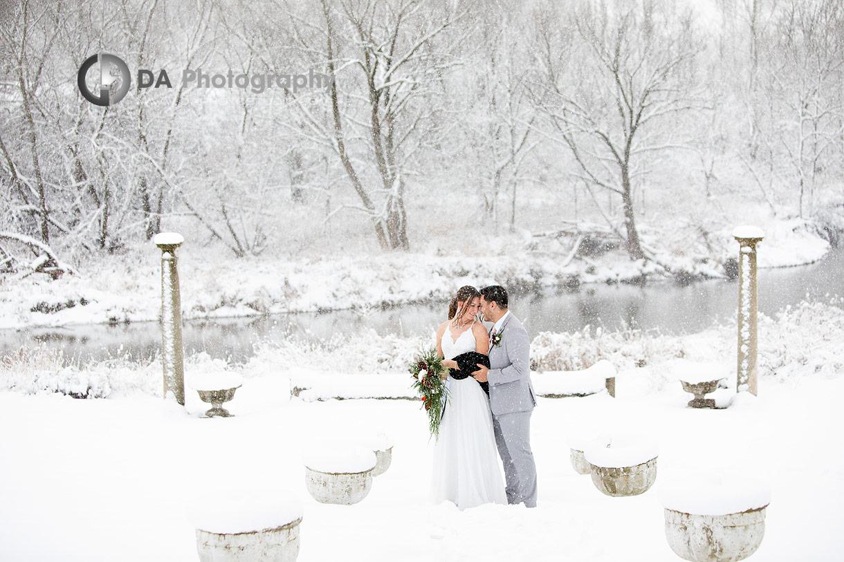 Winter wedding at NithRidge Estates