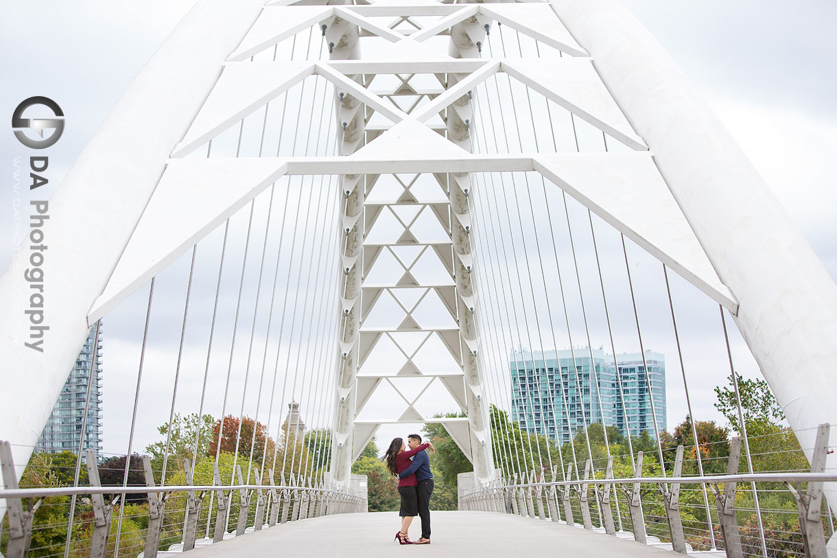 Humber Bay Arch Bridge Engagement Photographer