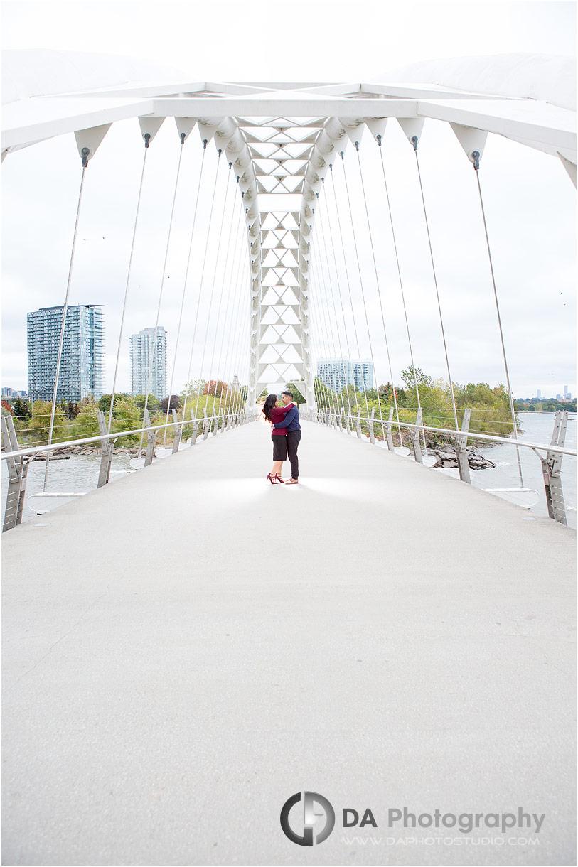 Humber Bay Arch Bridge Engagement Photos