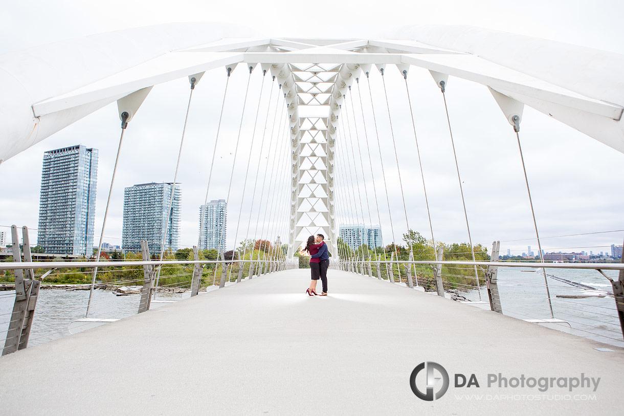 Best engagement photos at Humber Bay Arch Bridge
