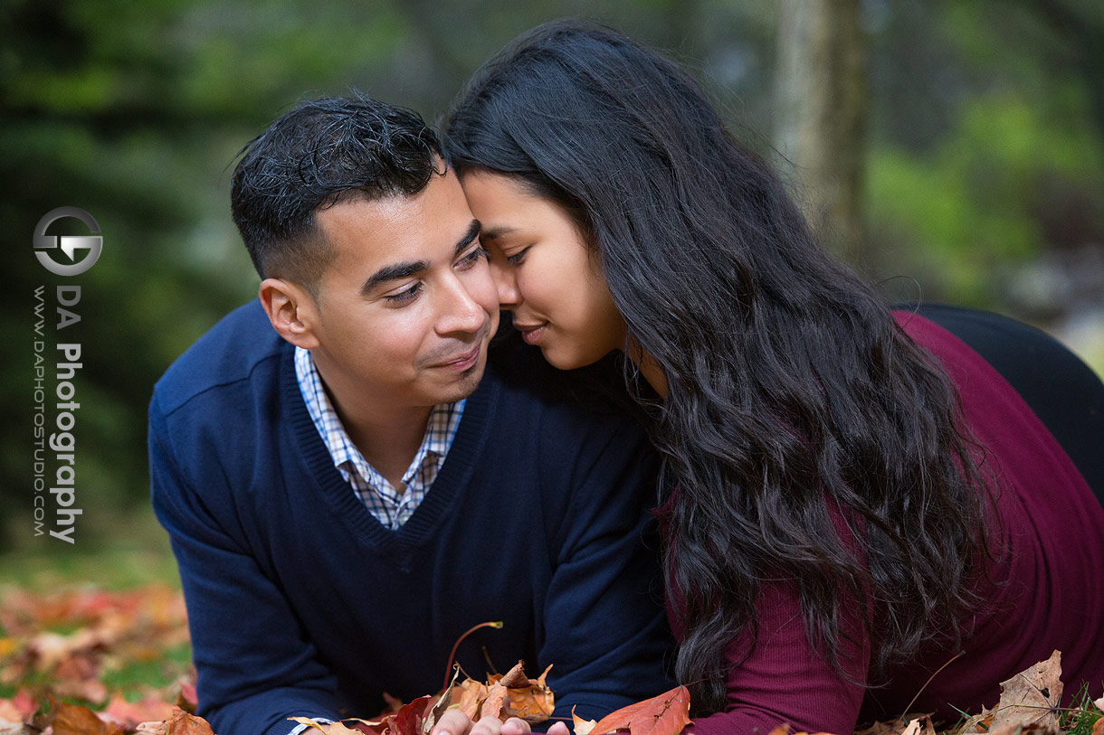 Fall engagements at Sunnyside Park in Toronto