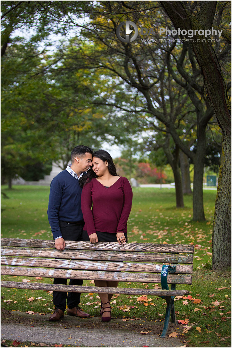 Engagement photos at Sunnyside Park in Toronto