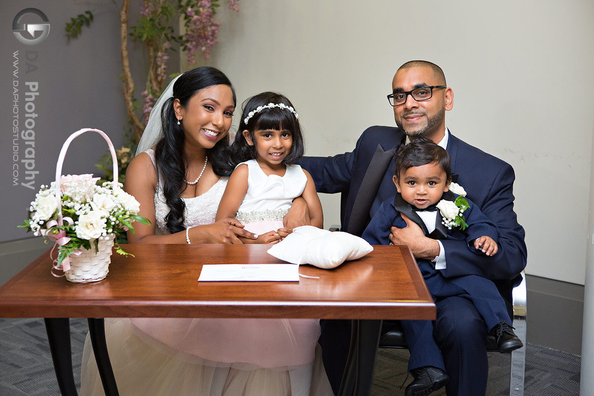 Wedding Photo at City Hall in Mississauga
