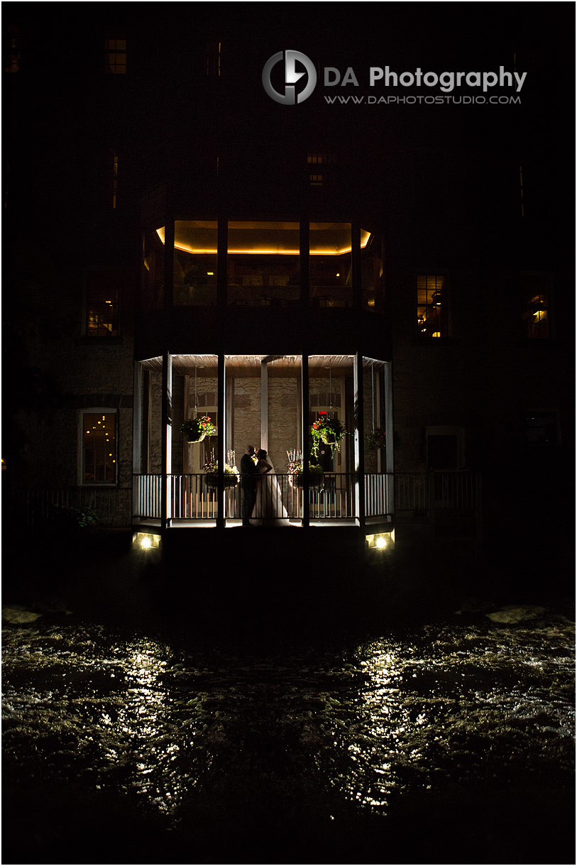 Night Photo on a Rustic Wedding at MillCroft Inn and Spa