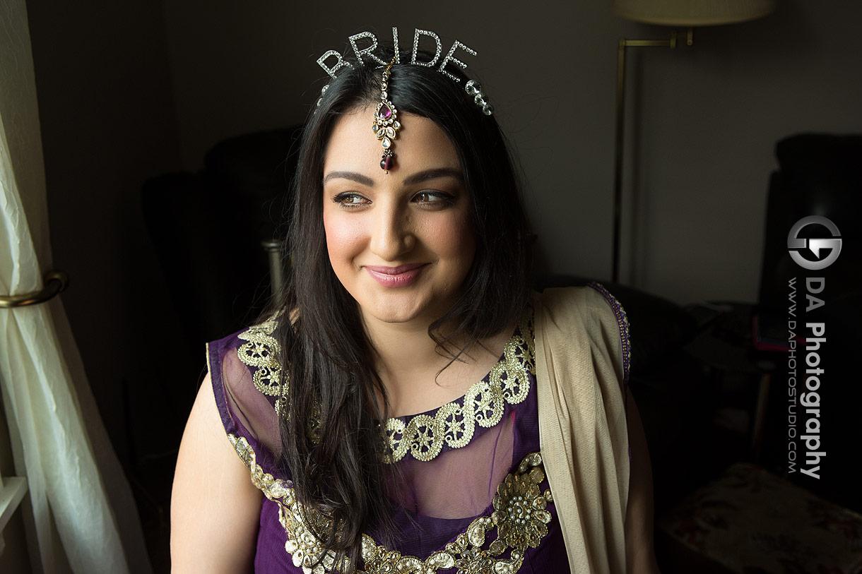 Bride at Mehndi wedding ceremony