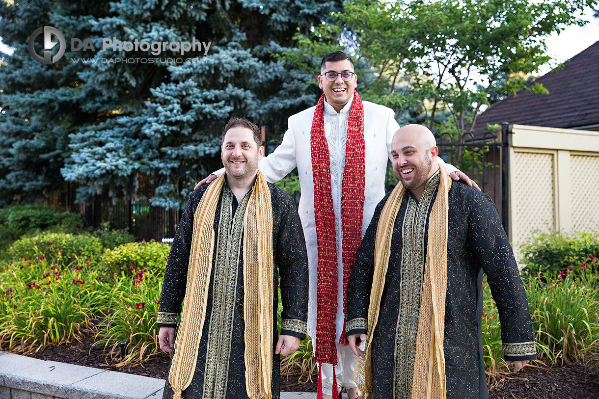 Groomsman's at Hindu Temple Ceremony