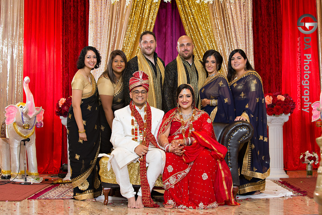 Wedding Photo at Hindu Temple in Mississauga
