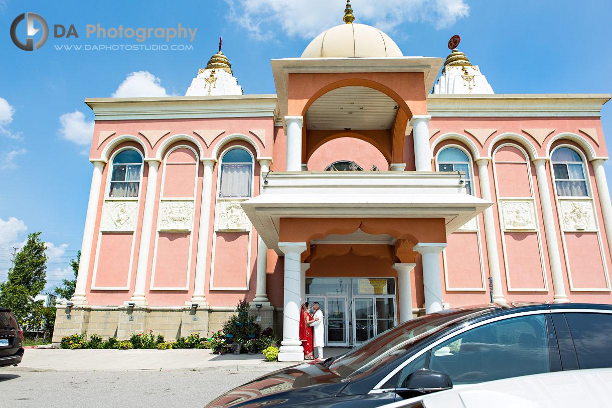 Wedding Photographs at Hindu Temple