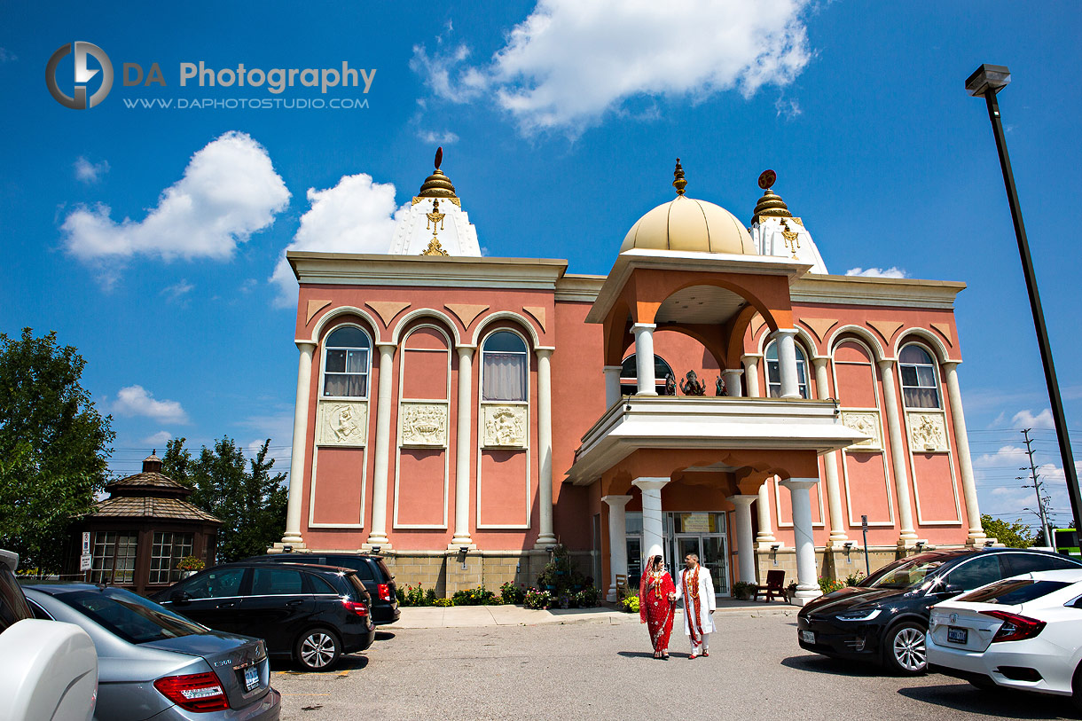 Wedding at Hindu Temple in Mississauga