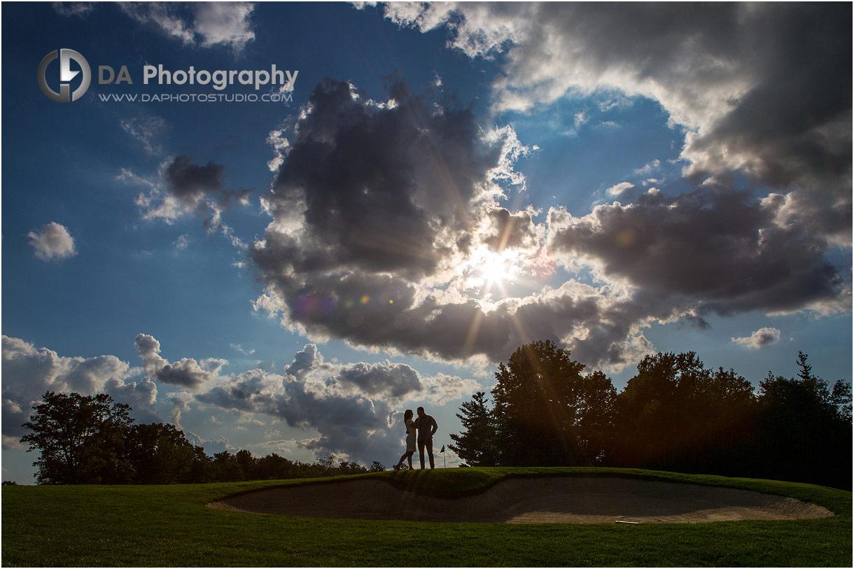 Engagement Photos at Hamilton Golf Club