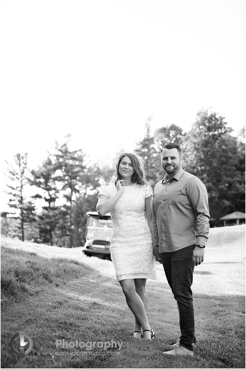 Hamilton Golf Club Engagement Photographer