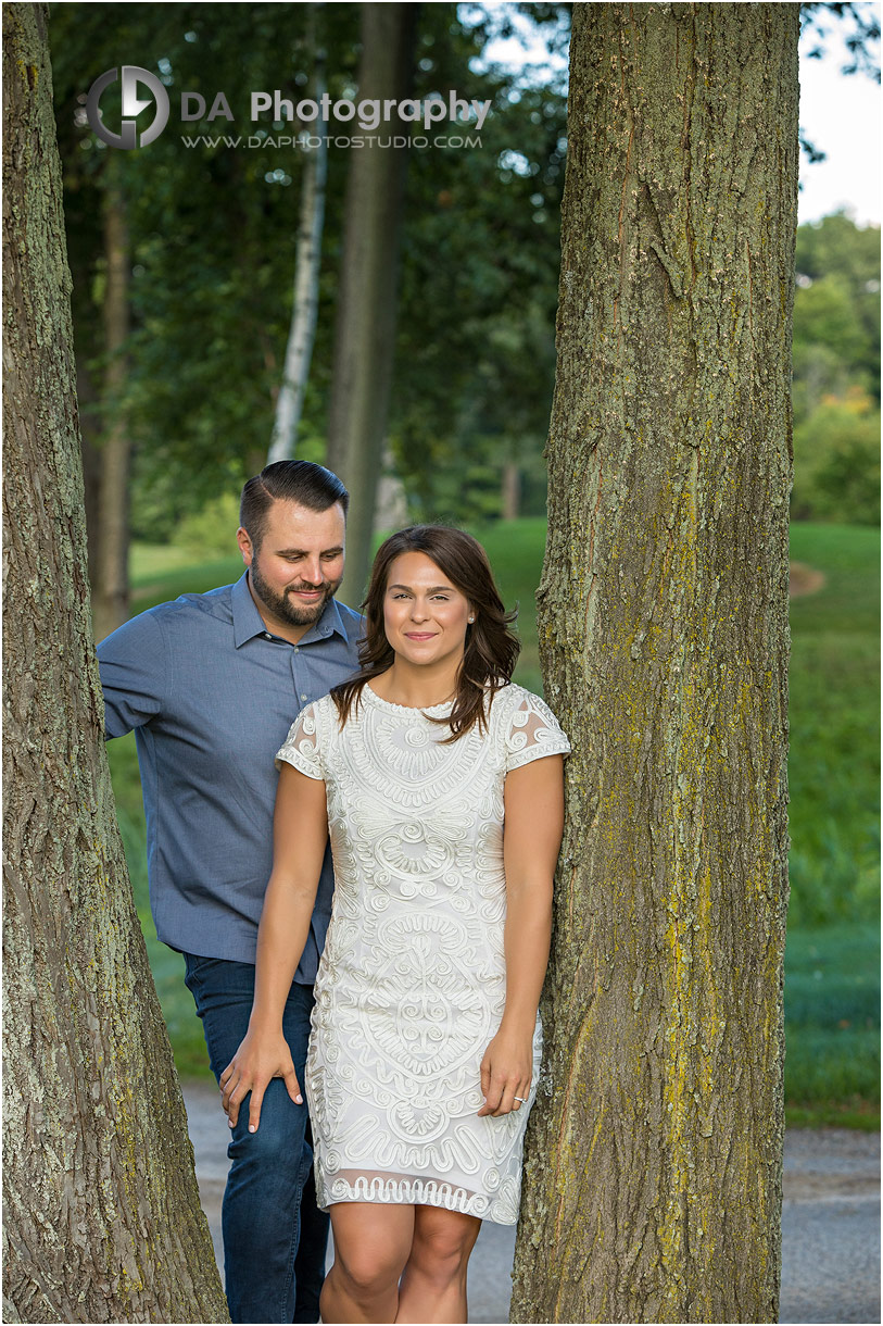 Engagement Photo at Hamilton Golf Club in Ancaster