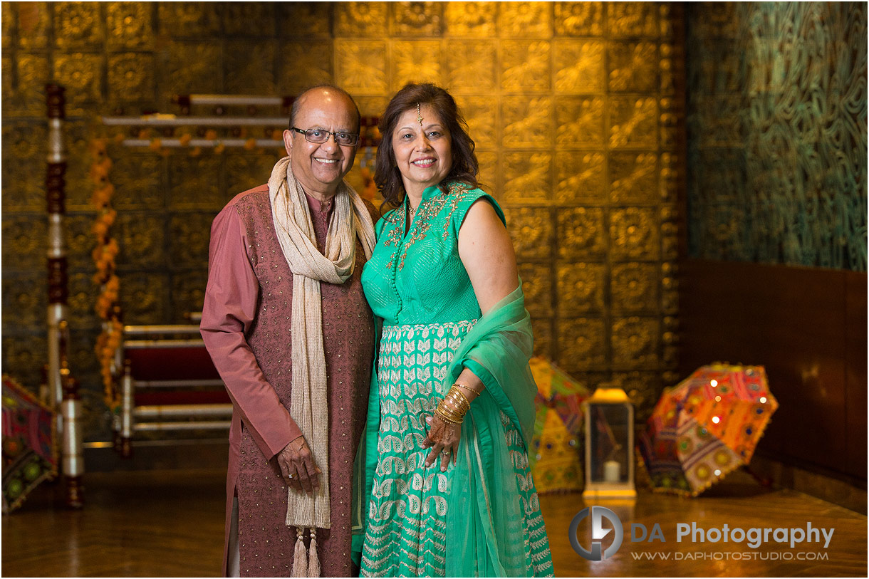 Parents of the bride at Mehndi Party