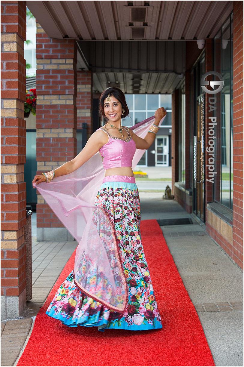 Pre-wedding event Indian dress