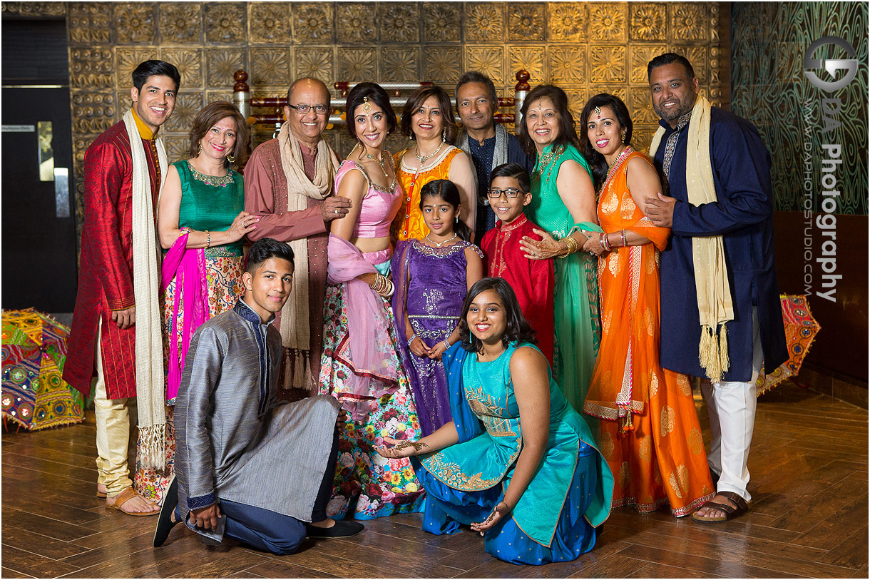 Family Portrait at Mehndi Party