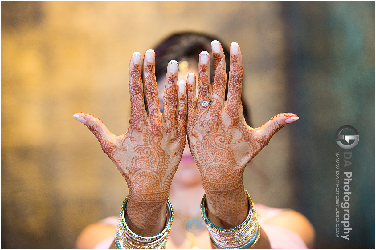 Bride to be with henna stain photos