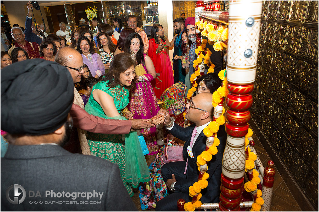 Parents blessing during Mehndi Party