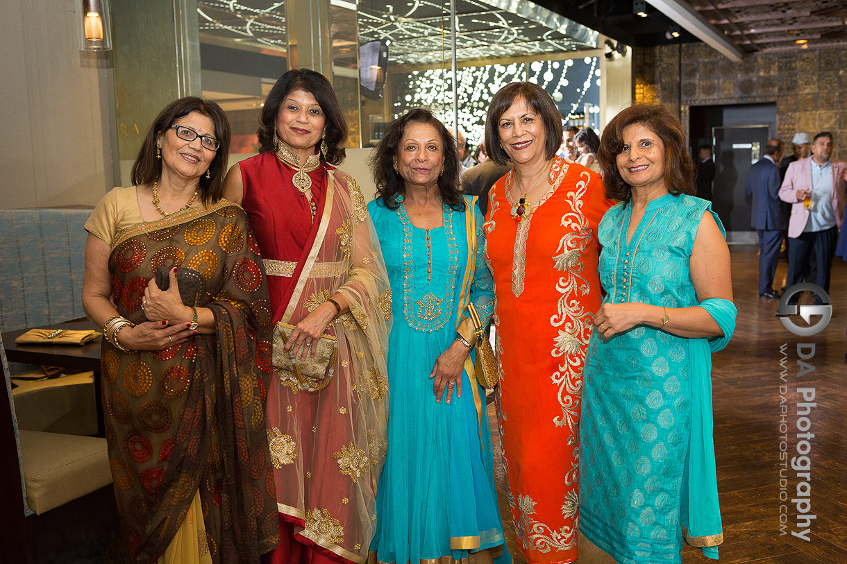 Colourful dresses during Mehndi Party